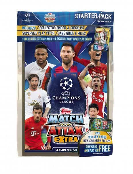"""Match Attax Champions League 2019/20 """"Extra"""" - Starter-Set"""