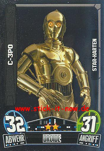 Force Attax Movie Collection - Serie 3 - Star-Karte - C-3PO - Nr. 211