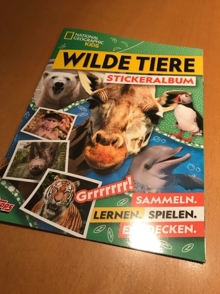 "National Geographic Kids ""Wilde Tiere"" (2019) - Stickeralbum"