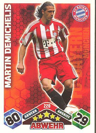 Match Attax 10/11 - MARTIN DEMICHELIS - 220