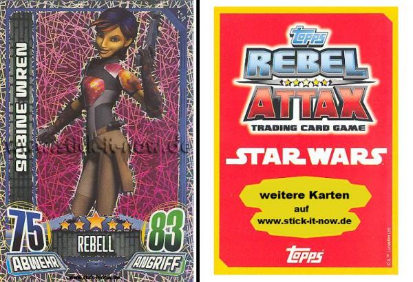 Rebel Attax - Serie 1 (2015) - SABINE WREN - Nr. 158 ( Glitzer-Karte )