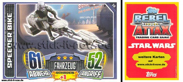 Rebel Attax - Serie 1 (2015) - SPEEDER BIKE - Nr. 50