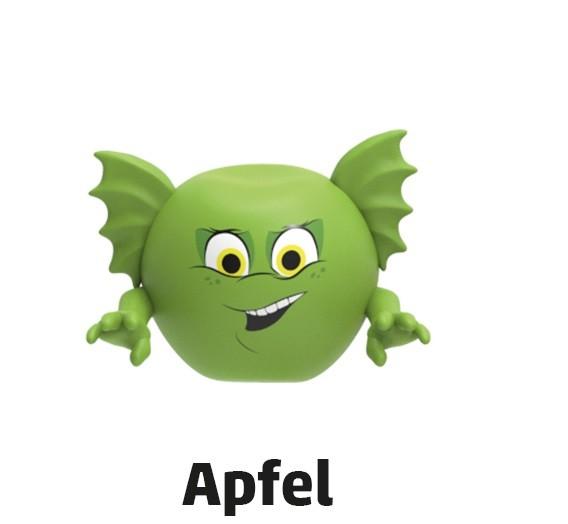 """Penny Monster-Sammelfiguren - Nr. 1 """"Apfel"""""""