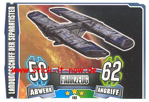 Force Attax - Star Wars - Clone Wars - Serie 4 - LANDUNGSSCHIFF DER SEPARATISTEN - Nr. 142