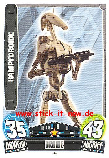 Force Attax Movie Collection - Serie 3 - KAMPFDROIDE - Nr. 143