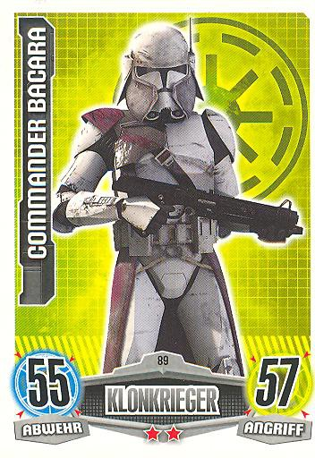 Force Attax - COMMANDER BACARA - Klonkrieger - Die Republik - Movie Collection