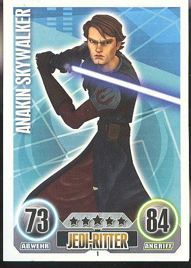Force Attax - ANAKIN SKYWALKER - Jedi-Ritter - Die Republik - SERIE 1 (2010)