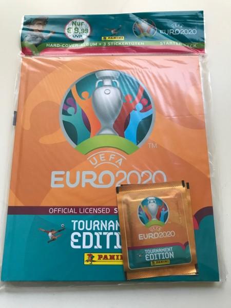 Panini UEFA EM 2020 Tournament Edition (2021) - Hardcover Album + 3 Tüten