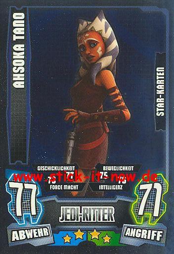 Star Wars Karte.Force Attax Star Wars Clone Wars Serie 4 Ahsoka Tano Star Karte Nr 195