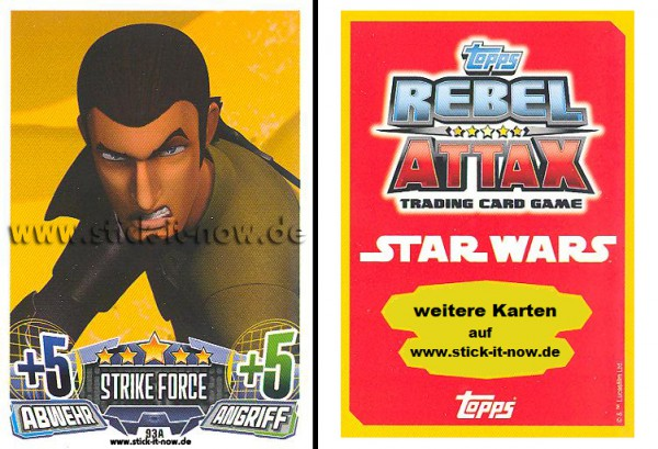 Rebel Attax - Serie 1 (2015) - STRIKE-FORCE - REBELLION 1 - Nr. 93A
