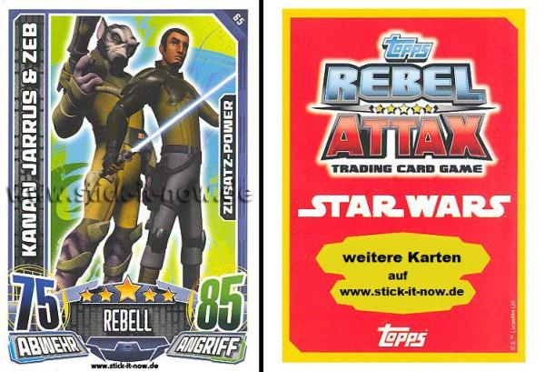 Rebel Attax - Serie 1 (2015) - KANAN JARRUS & ZEB - Nr. 65