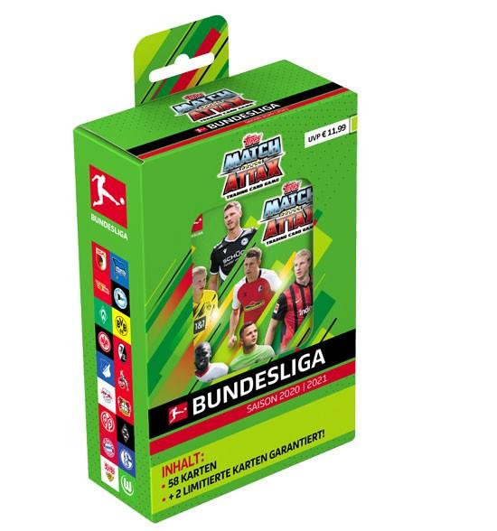 Topps Match Attax Bundesliga 2020/21 - Mega Tin ( 60 Karten + 2 Limitierte Karten )