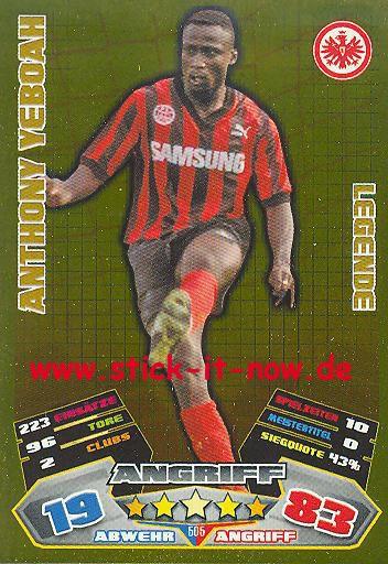 Match Attax 12/13 EXTRA - Anthony Yeboah - Ein. Franfurt - LEGENDE - Nr. 505