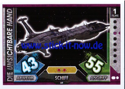 Topps Star Wars FORCE ATTAX UNIVERSE (2017) - Nr. 69