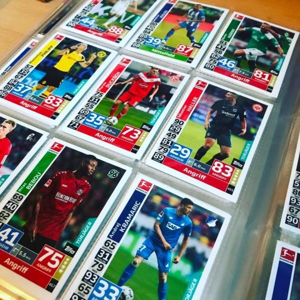 """Topps Match Attax Bundesliga 18/19 """"Action"""" - alle 182 Erweiterungs Karten"""