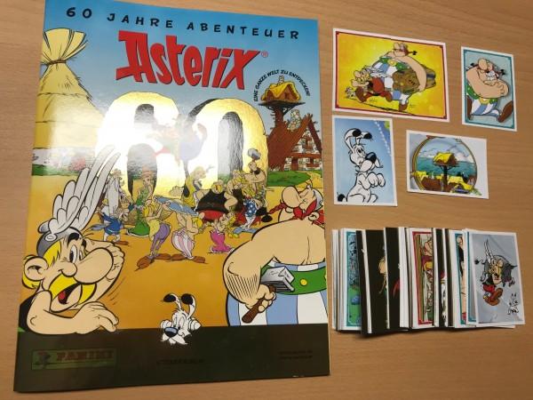 """Asterix """"60 Jahre Abenteuer"""" (2019) - komplettsatz ( alle Sticker lose + Album )"""