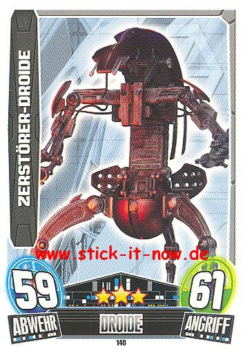 Force Attax Movie Collection - Serie 3 - ZERSTÖRER-DROIDE - Nr. 140
