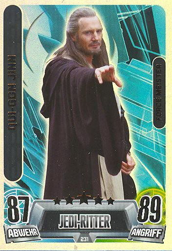 Force Attax Movie Collection - Serie 2 - Force-Meister - Qui-Gon Jinn - Nr. 231