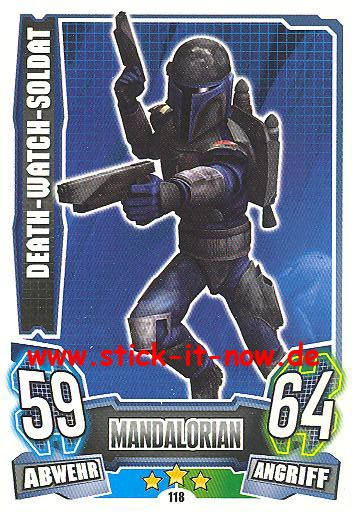 Force Attax - Star Wars - Clone Wars - Serie 4 - DEATH-WATCH-SOLDAT - Nr. 118