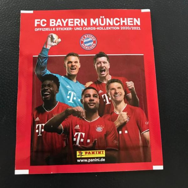 FC Bayern München 2020/21 - Stickertüte ( 4 Sticker + 1 Karte )