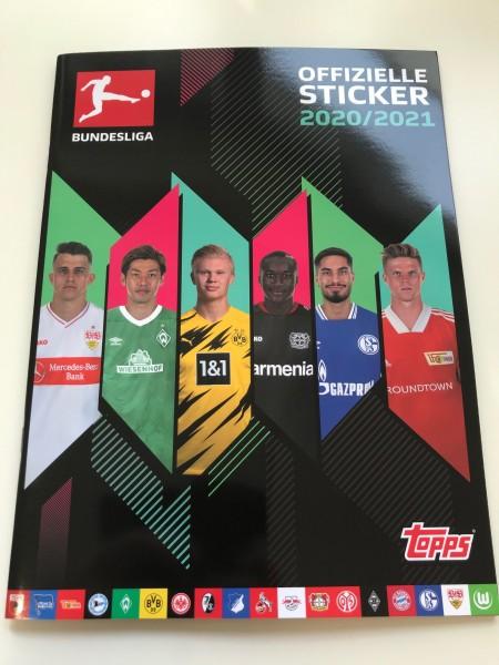"""Topps Fußball Bundesliga 2020/21 """"Sticker"""" (2020) - Stickeralbum"""