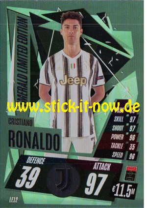 """Match Attax Champions League 2020/21 """"Update"""" - Nr. LE12 (Emerald Limited Edition)"""