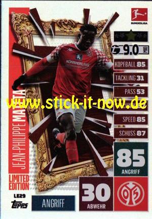 "Topps Match Attax Bundesliga 2020/21 ""Extra"" - Nr. LE 29 (Limitierte Auflage)"