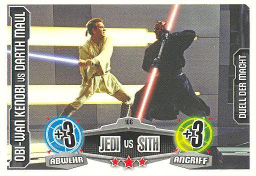 Force Attax - OBI-WAN KENOBI vs DARTH MAUL - Duell der Macht - Jedi vs Sith - Movie Collection