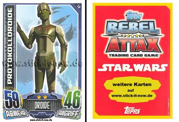 Rebel Attax - Serie 1 (2015) - PROTOKOLLDROIDE - Nr. 18
