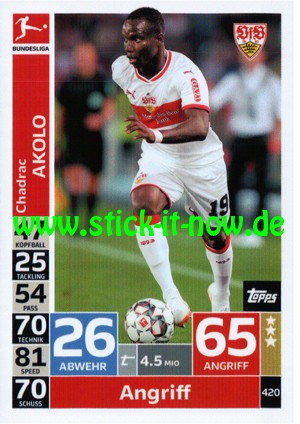 "Topps Match Attax Bundesliga 18/19 ""Action"" - Nr. 420"