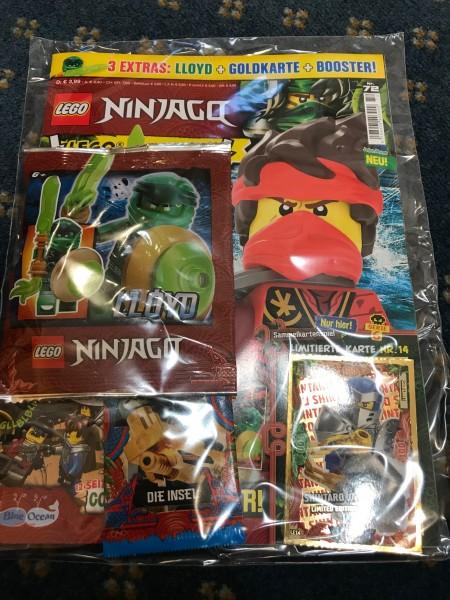 "Lego Ninjago Magazin Nr. 72 (mit Lego Figur, Booster & LE 14 ""Serie 6 )"