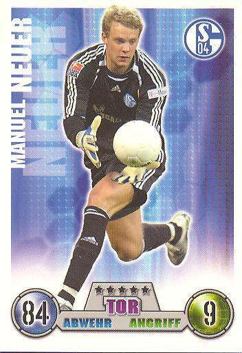 Manuel Neuer - Match Attax 08/09 - FC Schalke 04