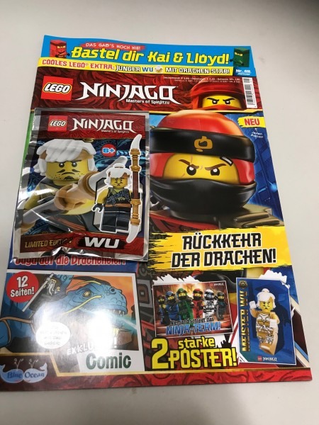 Lego Ninjago Magazin Nr. 45 (mit Lego Figur Junger WU)