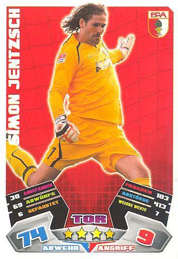 Match Attax 12/13 - Simon Jentzsch - FC Augsburg - Nr. 2