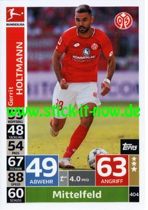 "Topps Match Attax Bundesliga 18/19 ""Action"" - Nr. 404"