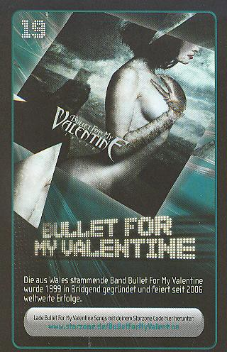 Starzone Sammelkarte - BULLET FOR MY VALENTINE - Rewe - Nr. 19