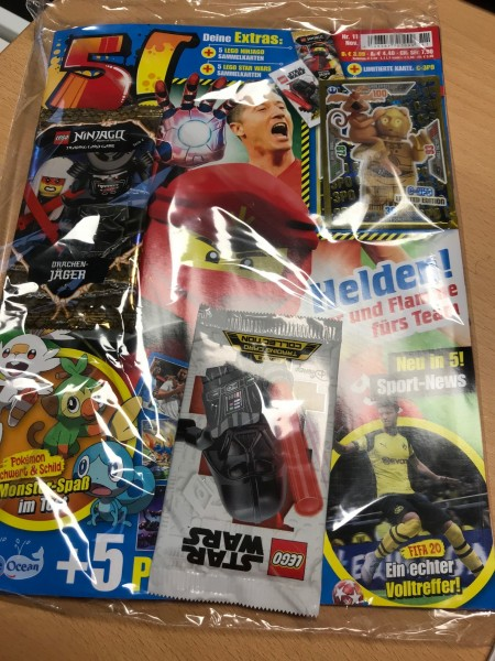 5! Five! Magazin Nr. 11/2019 (mit Lego Ninjago & Star Wars Booster + LE6 Lego Star Wars)