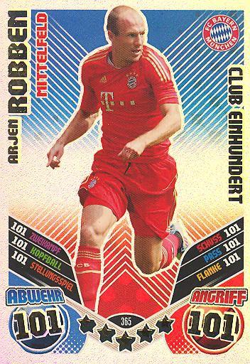 Arjen Robben - Club 100 - Match Attax 11/12