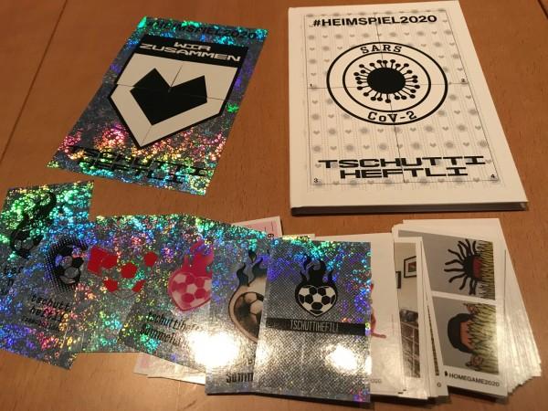 """Tschutti Heftli """"Heimspiel 2020"""" - komplettsatz ( alle 95 Sticker + Hardcover Album )"""