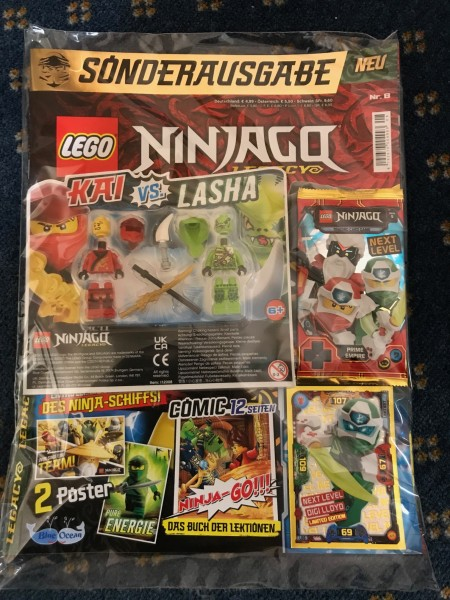 "Lego Ninjago Legacy Magazin Nr. 8 ( LE6 ""Next Level"" & 2 Lego Figuren )"