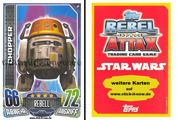 Rebel Attax - Serie 1 (2015) - CHOPPER - Nr. 6
