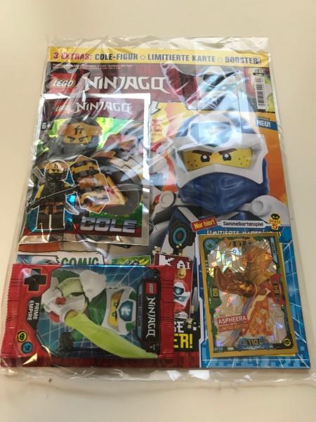 Lego Ninjago Magazin Nr. 62 (mit Lego Figur, Booster Ninjago 5 & LE 11)