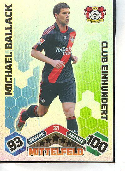 Match Attax 10/11 - Club 100 - MICHAEL BALLACK - 371