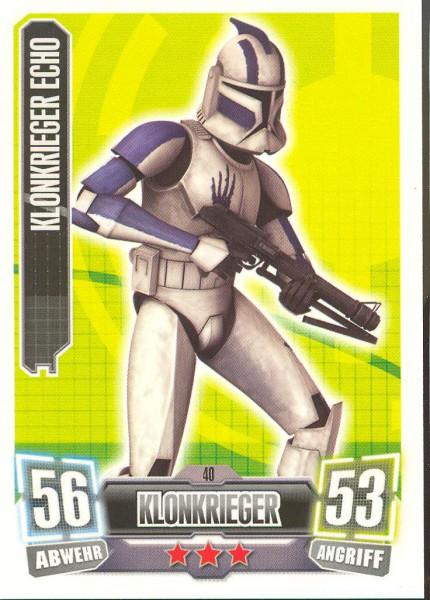Force Attax - Serie II - Klonkrieger Echo - Klonkrieger