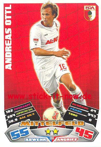 Match Attax 12/13 EXTRA - Andreas Ottl - FC Augsburg - Nr. 380