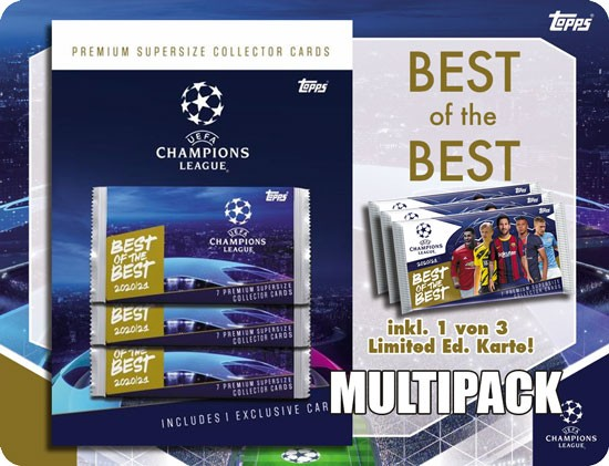 "Topps ""Best of the Best"" 2020/2021 - Multipack ( incl. 1 von 5 Master Karten )"
