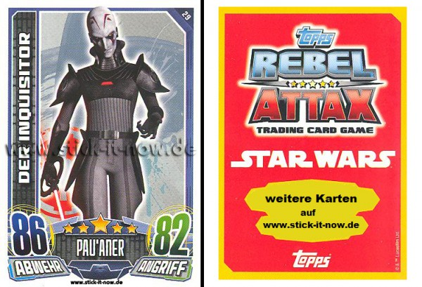 Rebel Attax - Serie 1 (2015) - DER INQUISITOR - Nr. 29