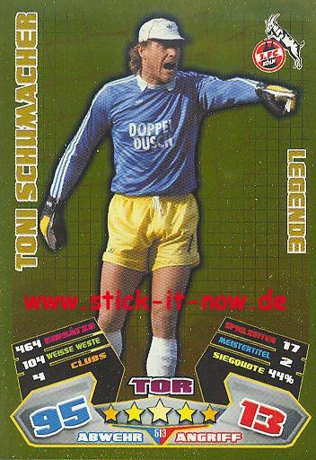 Match Attax 12/13 EXTRA - Toni Schumacher - 1. FC Köln - LEGENDE - Nr. 513