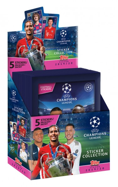"Champions League 2019/2020 ""Sticker"" - Display (30 Tüten)"