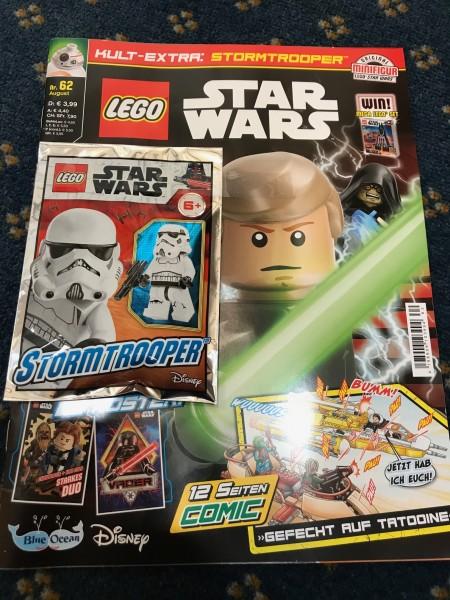 "Lego Star Wars Magazin Nr. 62 (mit Lego Figur ""Stormtrooper"" )"